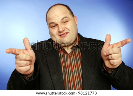 arrogant businessman - stock photo