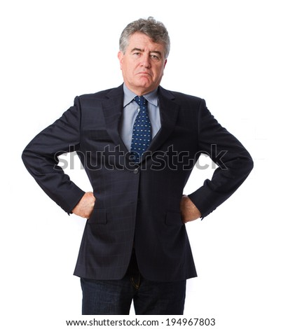 Arrogant businessman posing - stock photo