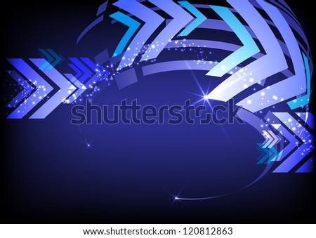 Arrow blue background with place for your text - stock photo