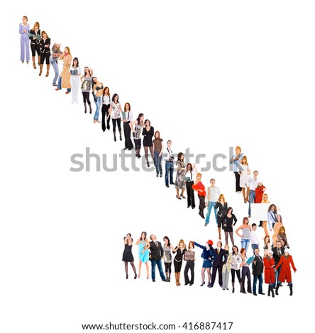 Arrow Concept Standing Together  - stock photo