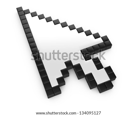 arrow cursor - stock photo