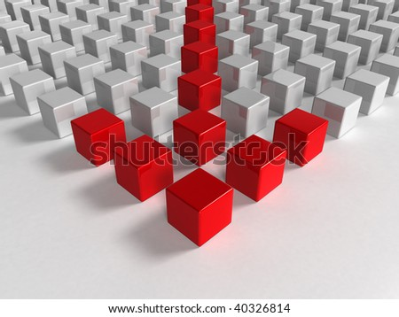 arrow - 3d background - stock photo