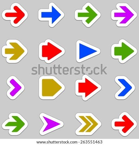 Arrow icons - stock photo