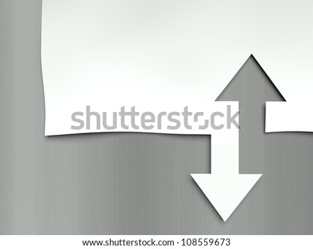 Arrow up and down, concept of differences - stock photo