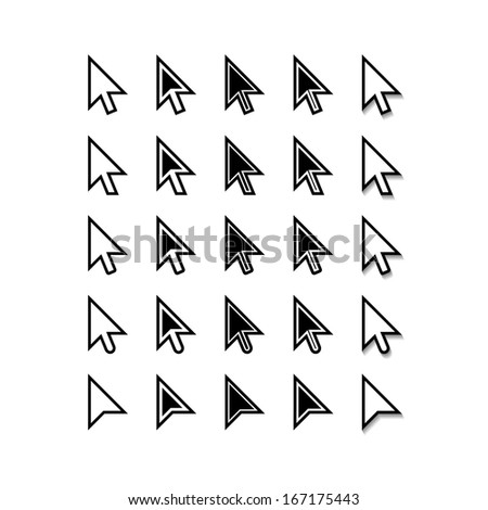 Arrows. Cursor Icons. Mouse Pointer Set. Raster Version - stock photo