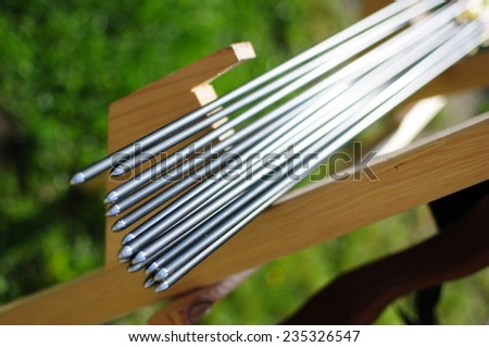 Arrows for sport bow  - stock photo