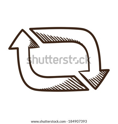 Arrows. Isolated sketch icon pictogram.  - stock photo