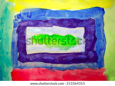 Art abstract colorful background painted on paper - stock photo