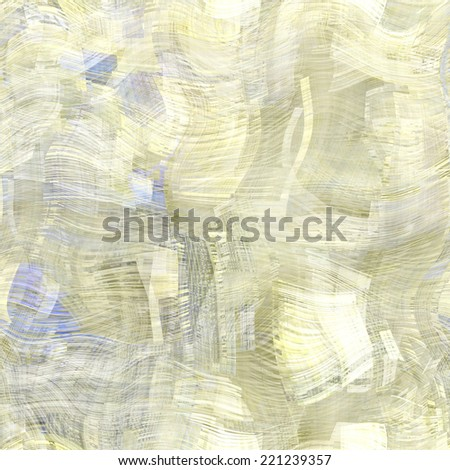 art abstract colorful chaotic waves seamless pattern, transparency background in white, beige and grey colors - stock photo