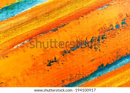 Art abstract colorful grunge textured hand-painted canvas background - stock photo