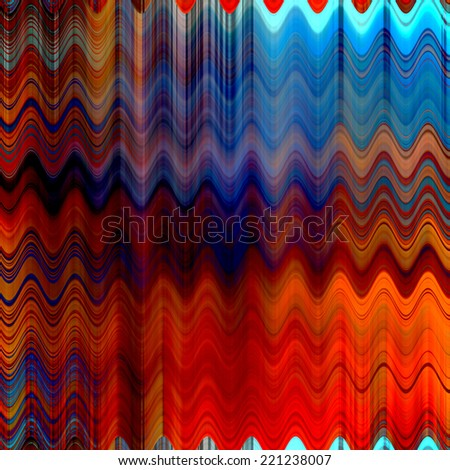 art abstract colorful zigzag geometric vertical seamless pattern background in red, orange and blue colors - stock photo