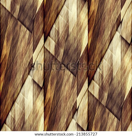 art abstract geometric diagonal seamless pattern; monochrome background in brown and beige colors - stock photo