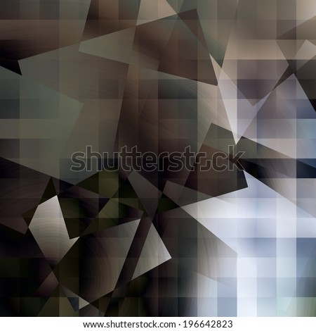 art abstract geometric textured colorful background in blue, white and black colors - stock photo