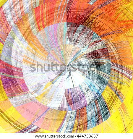 art abstract graphic spherical grunge colored background with yellow, orange and lilac colors; geometric pattern - stock photo