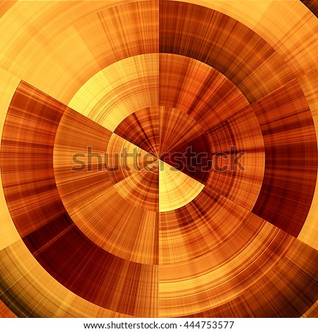 art abstract graphic spherical monochrome blurred background in orange, red, gold and brown colors; geometric pattern - stock photo