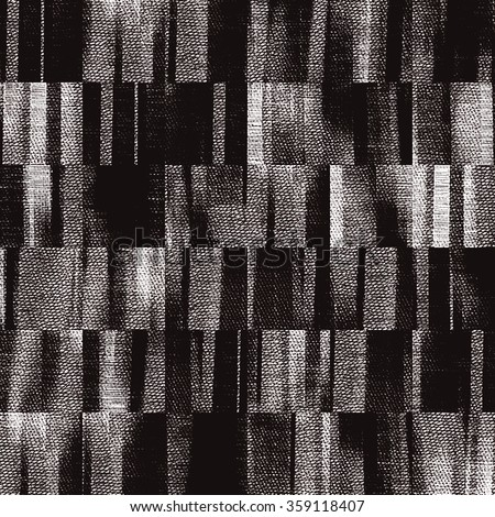art abstract monochrome black, grey and white graphic tiled background; seamless geometric pattern  - stock photo
