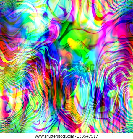 art abstract rainbow blurred background in bright pink, purple, blue, green and red; fractal seamless pattern  - stock photo