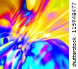 art abstract rainbow pattern background with blue and golden colors - stock photo