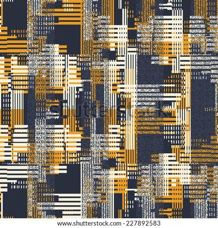 Art abstract urban motif geometric noisy textured background. Seamless pattern.  - stock photo