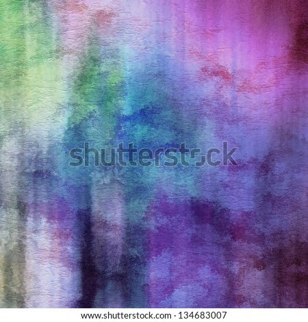 art abstract watercolor background on paper texture in light violet, lilac, blue, green and white colors - stock photo