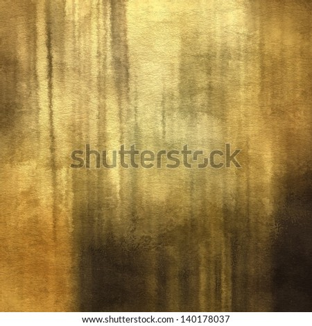 art abstract watercolor background on paper texture in old gold, beige, brown, black and grey colors - stock photo