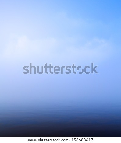 Art beautiful blue water and sky background - stock photo