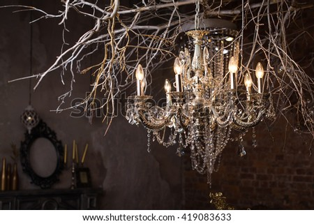 Art chandelier - stock photo