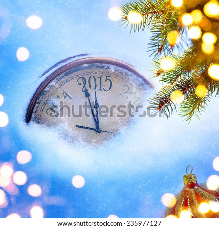 art 2015 christmas and new years eve   - stock photo