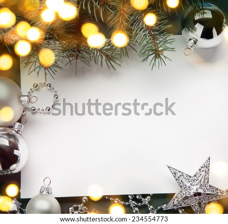 art christmas holiday background; tree light - stock photo