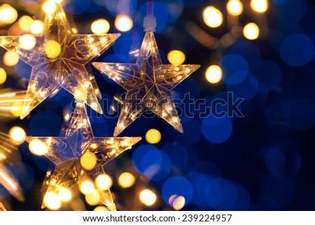 art Christmas holidays trees light - stock photo
