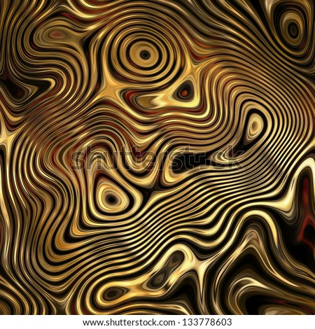 art colorful glass textured background in brown and gold colors; fractal seamless pattern - stock photo