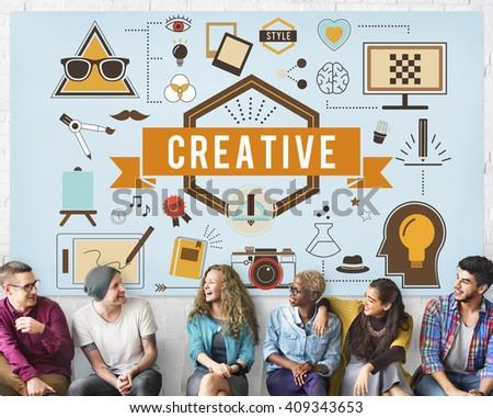 Art Creative Imagination Inspiration Concept - stock photo