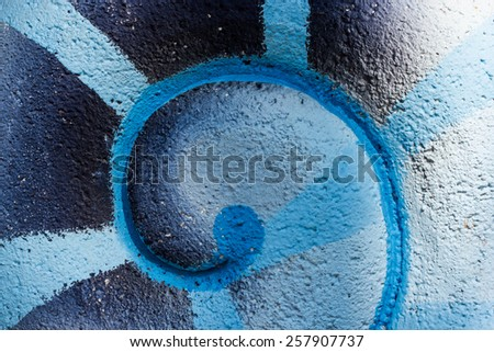 Art graphic on Cement wall texture background design - stock photo