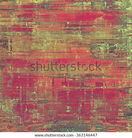 Art grunge vintage textured background. With different color patterns: brown; green; gray; pink; red (orange) - stock photo