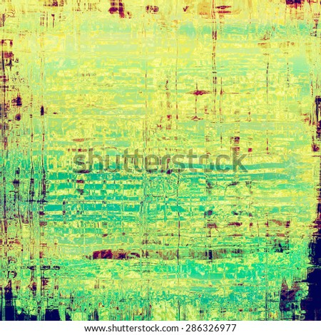 Art grunge vintage textured background. With different color patterns: yellow (beige); brown; blue; green - stock photo