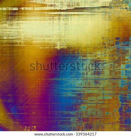 Art grunge vintage textured background. With different color patterns: yellow (beige); brown; blue; purple (violet) - stock photo