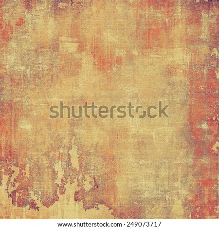 Art grunge vintage textured background. With different color patterns: yellow (beige); brown; red (orange) - stock photo