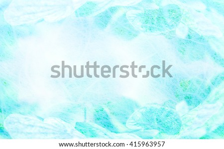 Art. leaves  in mulberry paper texture vintage style soft blur for background. - stock photo