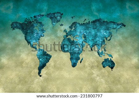 Art map - stock photo