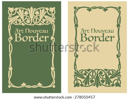 Art Nouveau Floral Border - stock photo