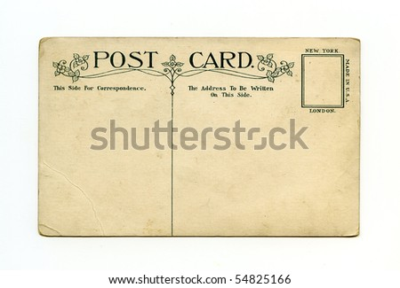 Art nouveau postcard back  circa 1915 - stock photo