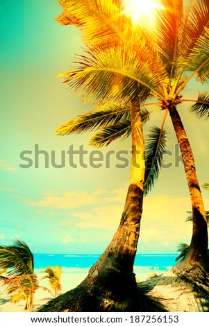 Art ocean beach, Summer vacation concept - stock photo