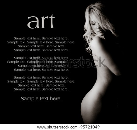 Art of a Woman with Text Space to the Left - stock photo