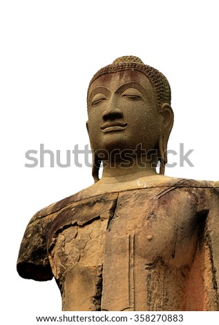 Art of Buddha image in historical park,Thailand - stock photo