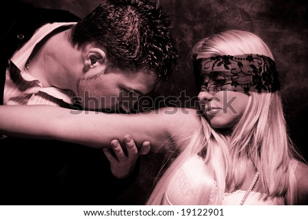 art of seduction, duo tones, - stock photo