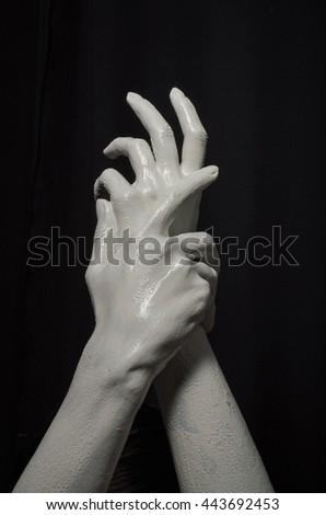 art photo hands - stock photo