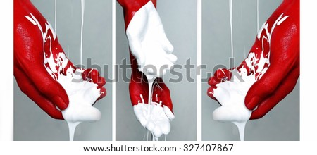 art photo of hand - stock photo