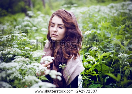Art portrait of a beautiful girl - stock photo