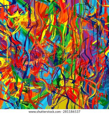 Art rainbow color splash brush strokes paint abstract background  - stock photo