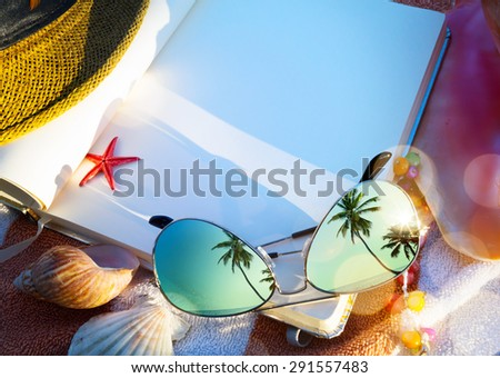 Art Summer concept of  beach holiday - stock photo